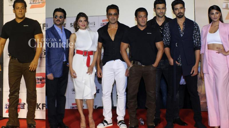 The team of 'Race 3' launched the trailer of the film at an event in Mumbai on Tuesday. (Photo: Viral Bhayani)