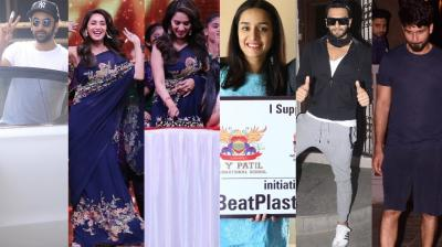Bollywood stars went about their professional and personal commitments in Mumbai and were snapped by the cameras on Tueday. (Photo: Viral Bhayani)