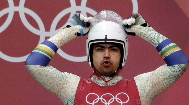 aking part in his sixth and last Olympics, the 36-year- old Keshavan produced the best timing of his campaign as he covered the 1,344 metre track at the Olympic Sliding Center in 48.900 seconds in his third round heat. (Photo: AP)