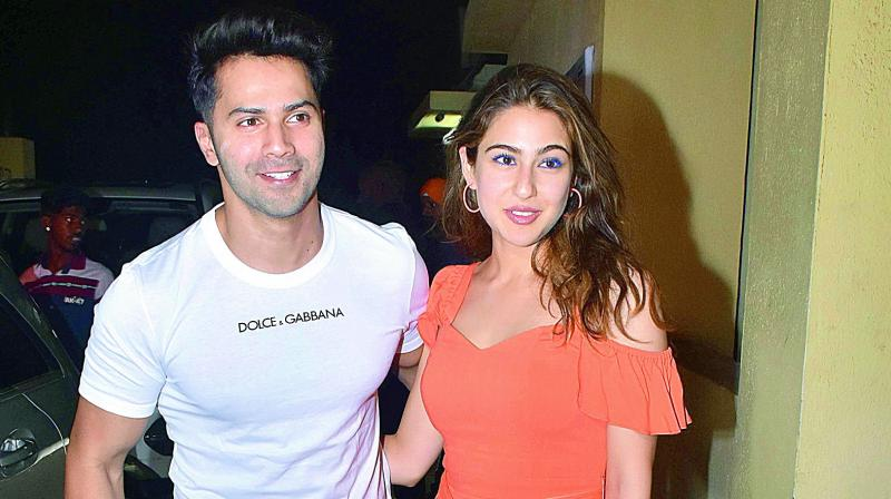 Varun Dhawan and Sara Ali Khan.
