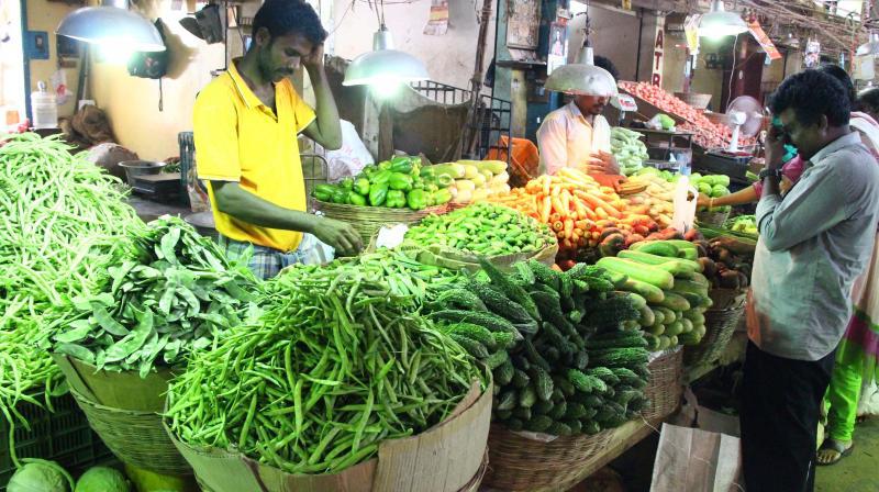 Vegetables on sale at the Koyambedu market. (File photo)