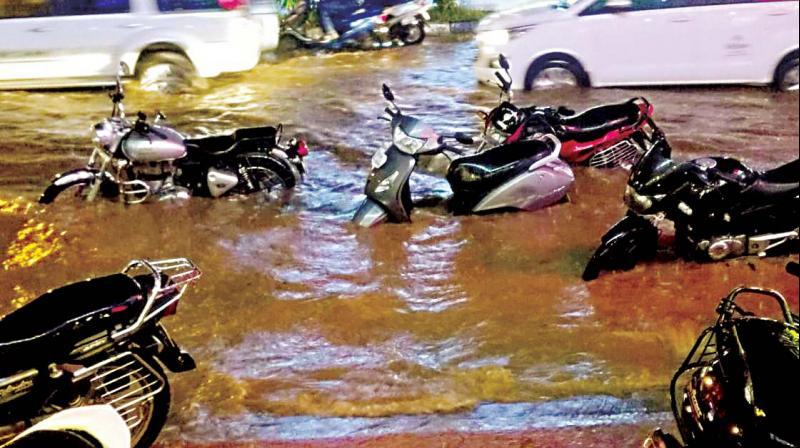Roads flooded in Koramangala on Wednesday  (Image DC)