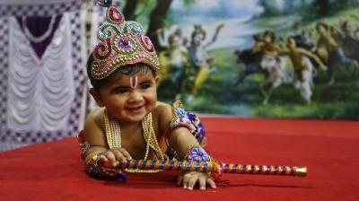 Janmashtami, the Hindu festival that marks the birth of lord Krishna is celebrated with much fanfare across the country. (Photos: AP, PTI)