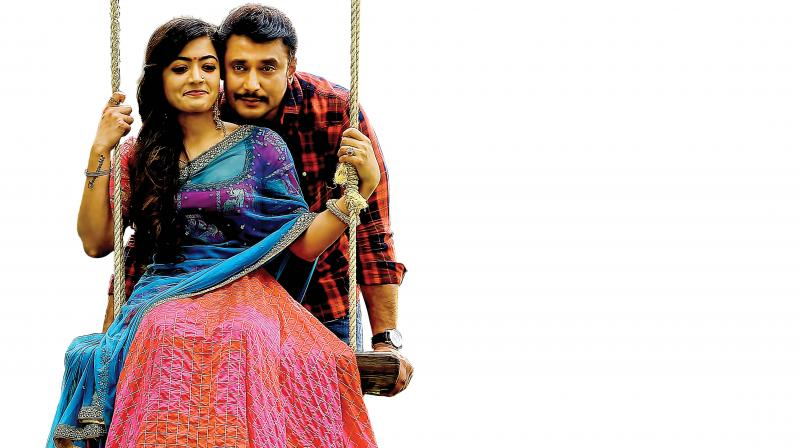 Darshan, who is fondly referred to as Challenging Star shines in this typical action thriller composed, and directed by debutant V Harikrishna and Kumar.