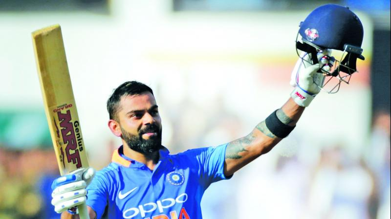 Kohli will be leading the India team in the World Cup for the first time but will have the experience of the World Cup winning captain MS Dhoni behind the stumps. (Photo: PTI)