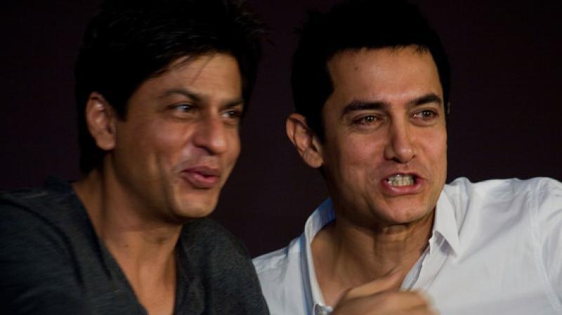 Shah Rukh Khan and Aamir Khan.
