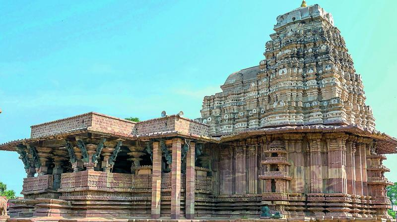 Ramappa Temple where an inscription dates back to the year 1213 AD and says it was built during the reign of the Kakatiya ruler Ganapati Deva.