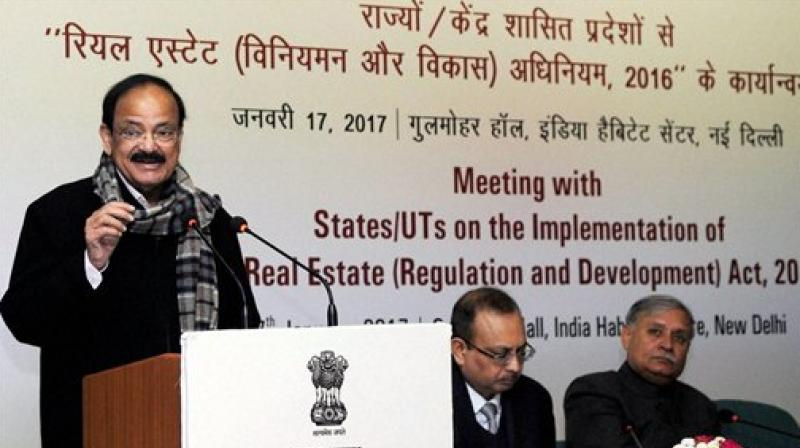 Union Minister for Information and Broadcasting M Venkaiah Naidu speaking at IIMC. (Photo: AP)