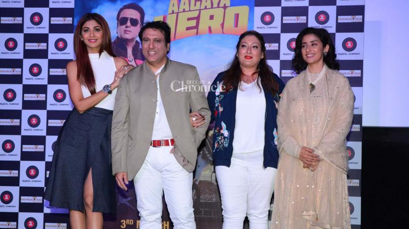 Shilpa Shetty Kundra and Manisha Koirala were seen at the launch of Govinda's new film 'Aa Gaya Hero' on Wednesday. (Photo: Viral Bhayani)