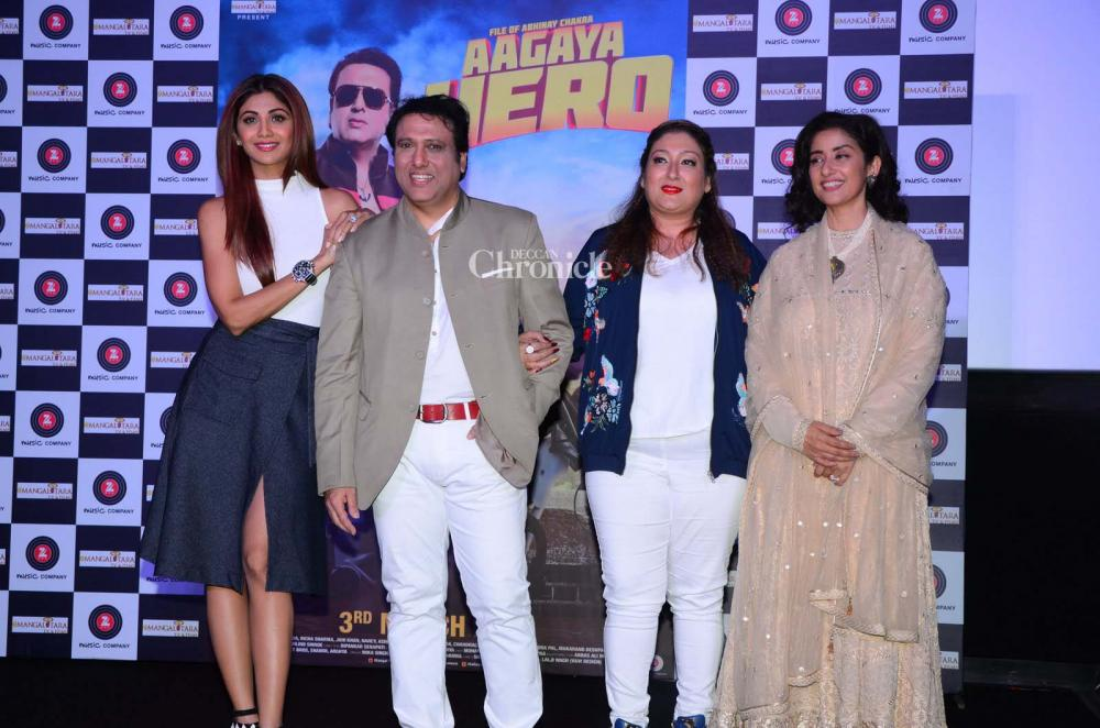 Govinda shilpa and raveena groove together as they reunite after 19 former co stars shilpa manisha come out for govindas new film altavistaventures Choice Image