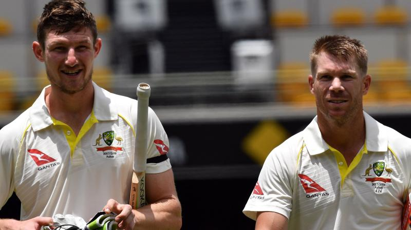 "Banned Australian player Cameron Bancroft confirmed David Warner asked him to alter the ball during the tampering scandal in South Africa and said he went along with it ""to fit in"". (Photo: AFP)"