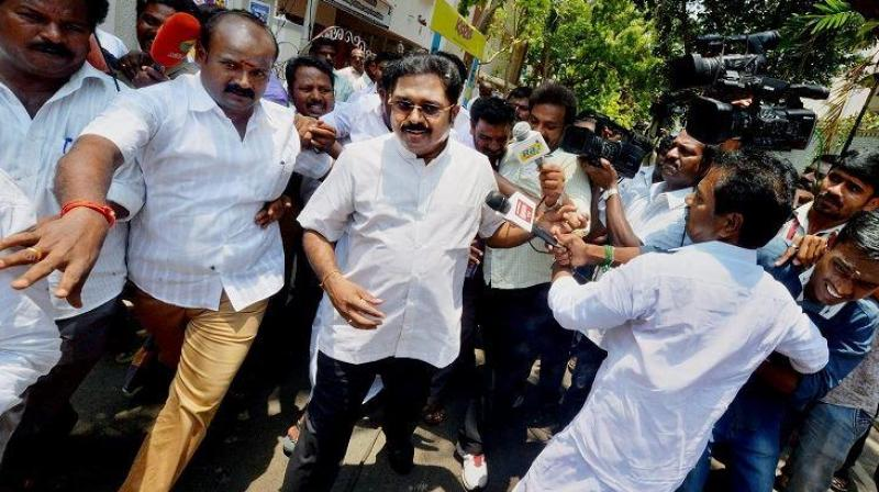 TTV Dhinakaran also sought to make light of the K Palanisamy camp winning the 'Two Leaves' symbol after both camps staked claim for it before the Election Commission. (Photo: PTI)