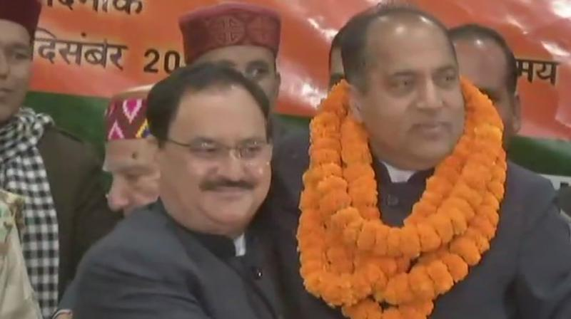 Considered a popular face in Himachal Pradesh, Jairam Thakur has been credited with striking a balance between the warring factions of the BJP. (Photo: ANI | Twitter)