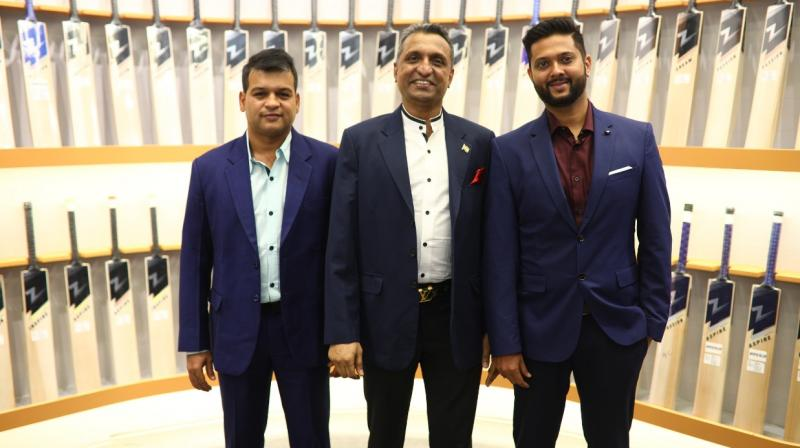 (From left to right) Samir Shah, Founder Director of Z-Bat, G Ramchandran, Z-Bat mentor  and Harshal Shah. Founder Director of Z-Bat.