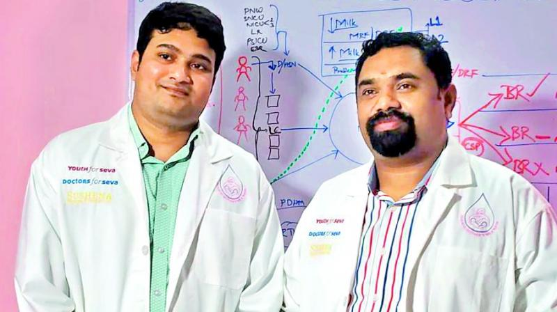 (Right) Dr B. Srinivas Goud and Dr Santosh Kumar.