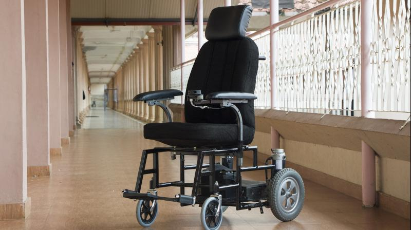 The user can touch any point on the generated map, and the wheelchair will drive to that place automatically without user intervention, navigating its own path and avoiding obstacles.