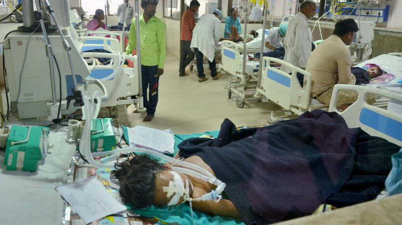 Maximum number of AES cases have been reported from Bihar, and the death toll due to AES mounted to 142 in Muzaffarpur district on Monday. (Photo: PTI)