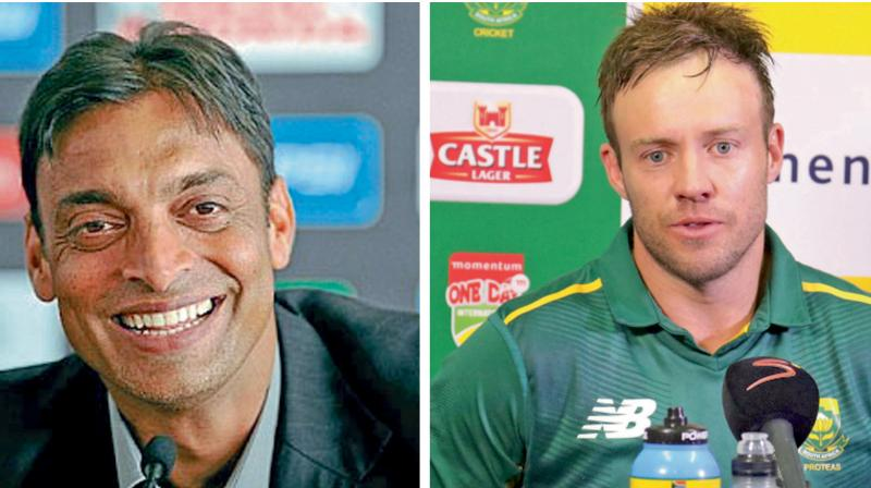 'Be a man', don't play gimmicks, Akhtar tells De Villiers