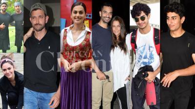 Bollywood celebrities like Hrithik Roshan, Taapsee Pannu, Ranbir Kapoor, Arjun Kapoor, Arjun Rampal, Esha Gupta, Parineeti Chopra, Tabu and others were snapped in the city of dreams, Mumbai. (Photos: Viral Bhayani)