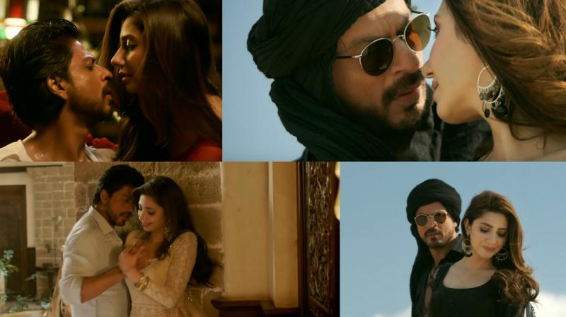 Screengrabs from the 'Zaalima' song.