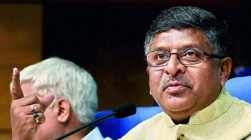Union law minister Ravi Shankar Prasad claimed that demonetisation has reduced the number of stone-pelting incidents in Kashmir, put a check on Naxal activities, increased the provident fund and insurance cover of the employees immensely. (Photo: File)