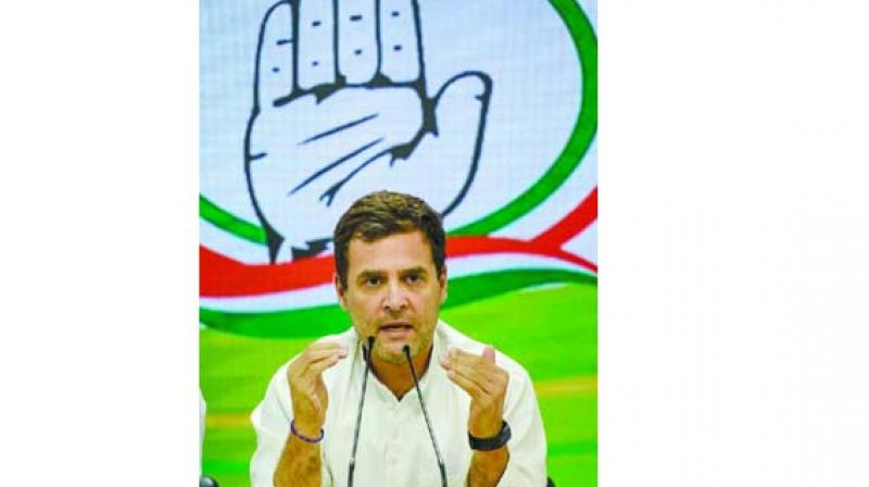 The Congress president Rahul Gandhi in a rally said he would not like to be the Chowkidar, but the voice of the people. (Photo: File)