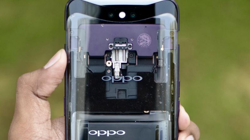 Oppo Find X with transparent back sighted online