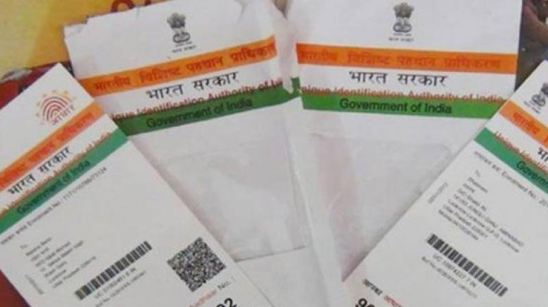 The finance department says linking of Aadhaar with welfare schemes is IT activity. The IT department says it only develops tech solutions to departments.(Representational Image)