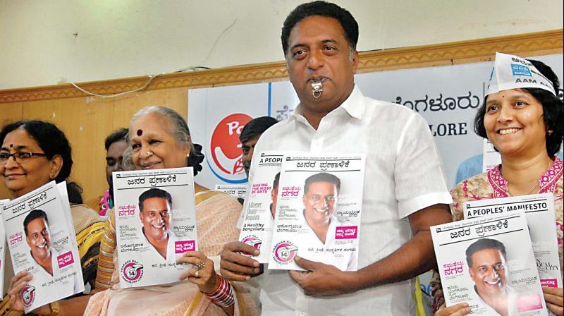 Independent candidate Prakash Raj