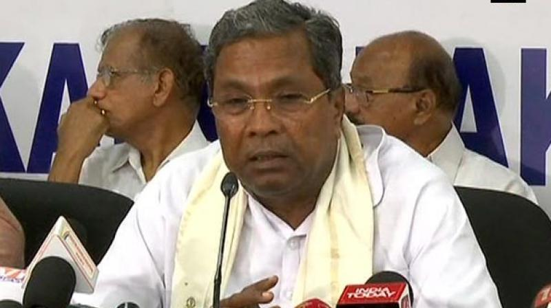 Siddaramaiah on Monday said there will not be any expansion of cabinet or dissolution of Karnataka's Congress-JD(S) coalition government led by Chief Minister H D Kumaraswamy. (Photo: ANI)