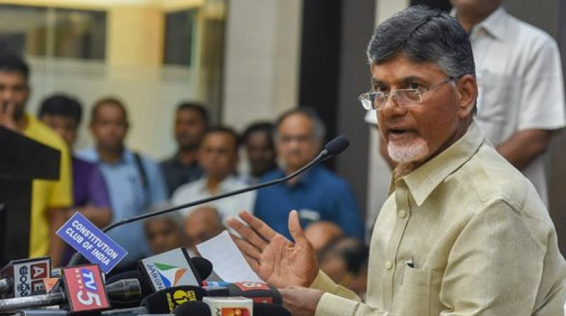 Andhra Pradesh Chief Minister N Chandrababu Naidu opined that horticulture can help the economy flourish while inaugurating a horticulture show 'Udyana 2018' which focused on organic products, and promotion of zero-chemical based natural farming. (Photo: PTI)