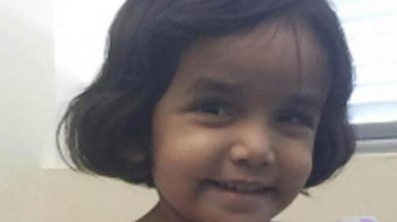 Sherin Mathews, who has developmental issues and limited verbal communication skills, was last seen outside her family's backyard in Richardson, Dallas on October 7. (Photo: AFP)