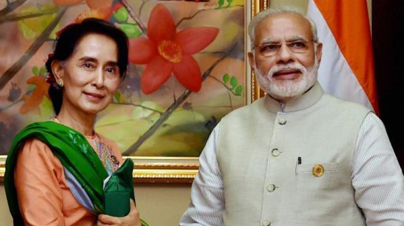 It is not clear when Prime Minister Narendra Modi made the comments, however, Bangladeshi media reports claimed he said this in September when he met Suu Kyi during his first bilateral visit to Myanmar. (Photo: PTI | File)