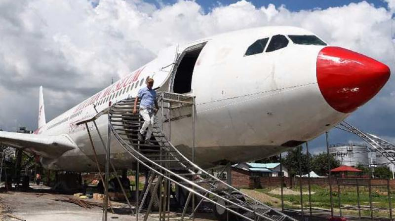 pilot Bed Upreti bought the metal carcass and has invested $600,000 to turn it into an aviation museum. (Photo: AFP)