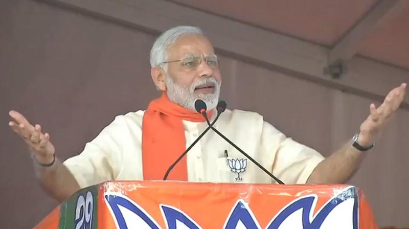 Prime Minister Narendra Modi addressed a rally in Chitradurga in Karnataka