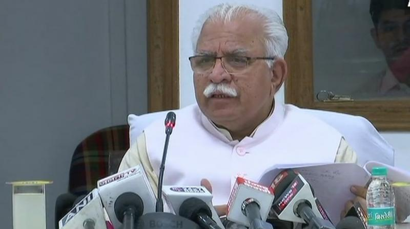 "Addressing a poll rally in Kharkhoda here on Sunday, Khattar launched a fierce attack on the Congress and the Jannayak Janta Party (JJP), asking the voters to show the door to these ""family-based parties"".  (Photo: File)"