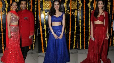Ekta Kapoor hosted a Diwali bash at her house which was not only attended by TV celebs but also our Bollywood hotties Shraddha Kapoor, Kriti Sanon, Kiara Advani and others.