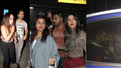 While Priyanka Chopra came back to India with her sister Parineeti Chopra, it looked like B-Town wanted to spend time with their better halves.