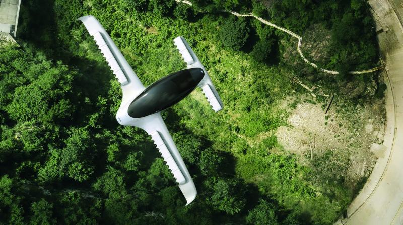 Powered by 36 electric motors, the Lilium sports a fixed-wing design that its makers say will give it an efficiency and range advantage over more drone-like competitors, such as German rival Volocopter and Britain's Vertical Aerospace.
