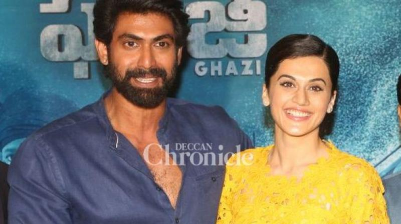 Rana Daggubati, Taapsee Pannu interacted with the media to promote their upcoming film 'The Ghazi Attack' along with the team on Wednesday. (Photo: Viral Bhayani)