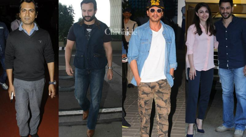 Bollywood stars were captured by shutterbugs at various venues in Mumbai on Wednesday. (Photo: Viral Bhayani)