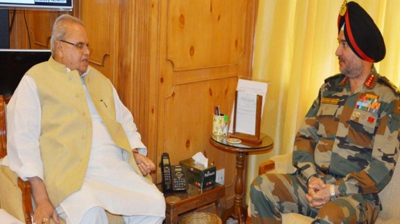 Governor Malik called for continuing the current Civil-Police-Army collaboration and synergy in combating anti-terrorist activities. (Photo: ANI)