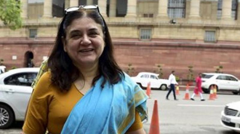 'We are opening up the SHe-box, which is the first of its kind in the world,' Union Minister for Women and Child Development Maneka Gandhi said. (File photo)