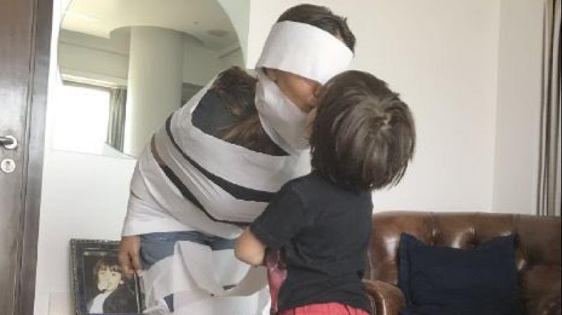 SRK had earlier revealed that Abram was a big fan of Spiderman.