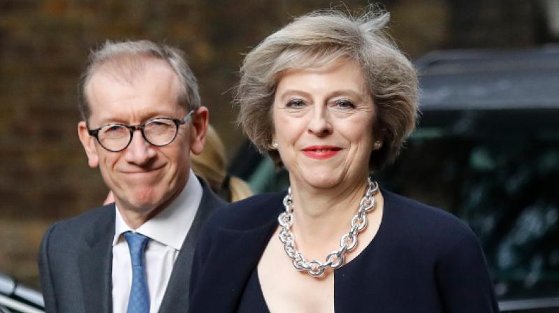 Philip May and UK Prime Minister Theresa May. (Photo: AP)