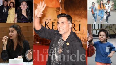 Bollywood celebrities like Akshay Kumar, Parineeti Chopra, Kareena Kapoor Khan, Taimur, Alia Bhatt and others were snapped in Mumbai. (Photos: Viral Bhayani)
