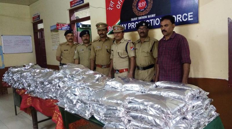 The team which caught the  banned tobacco products.