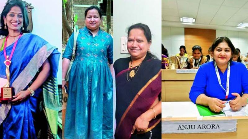 Harini Madhira, Namita Banka, Sree Raja Rajeshwari Yellapragada and Anju Arora