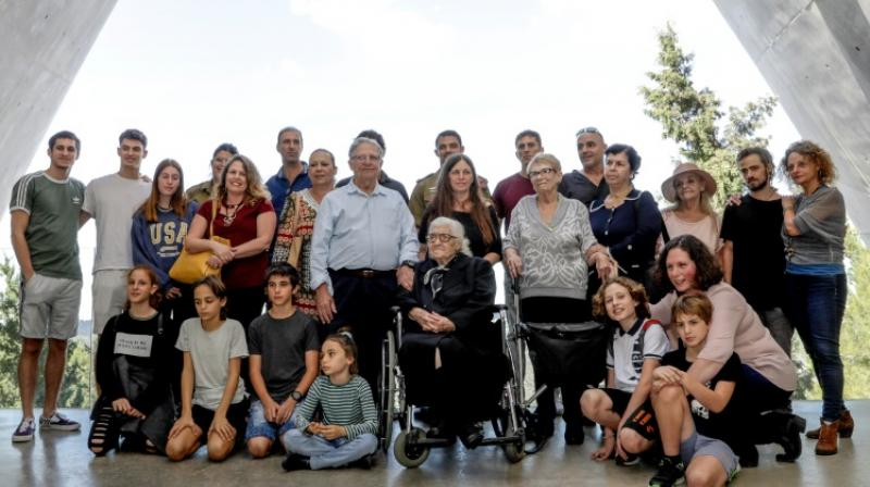 Sarah and Yossi brought their children and grandchildren to meet their saviour. (Photo: AFP)