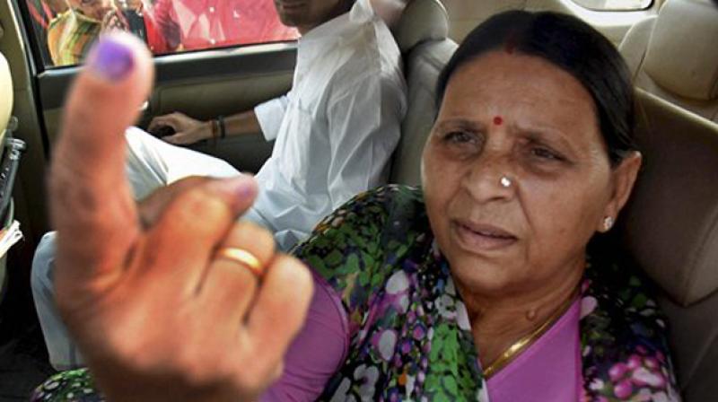 Former Bihar chief minister Rabri Devi (Photo: PTI/File)